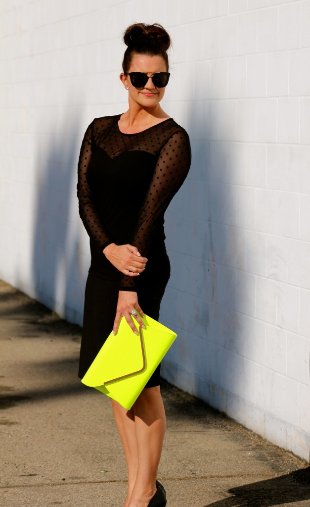 neon clutch, 1, lipgloss and lace, fashion blogger