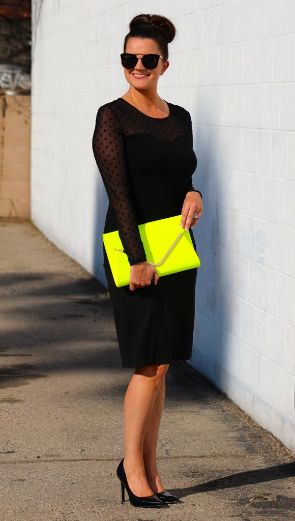 neon clutch, 2, lipgloss and lace, fashion blogger