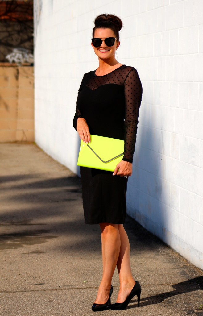 neon clutch, 3, lipgloss and lace, fashion blogger