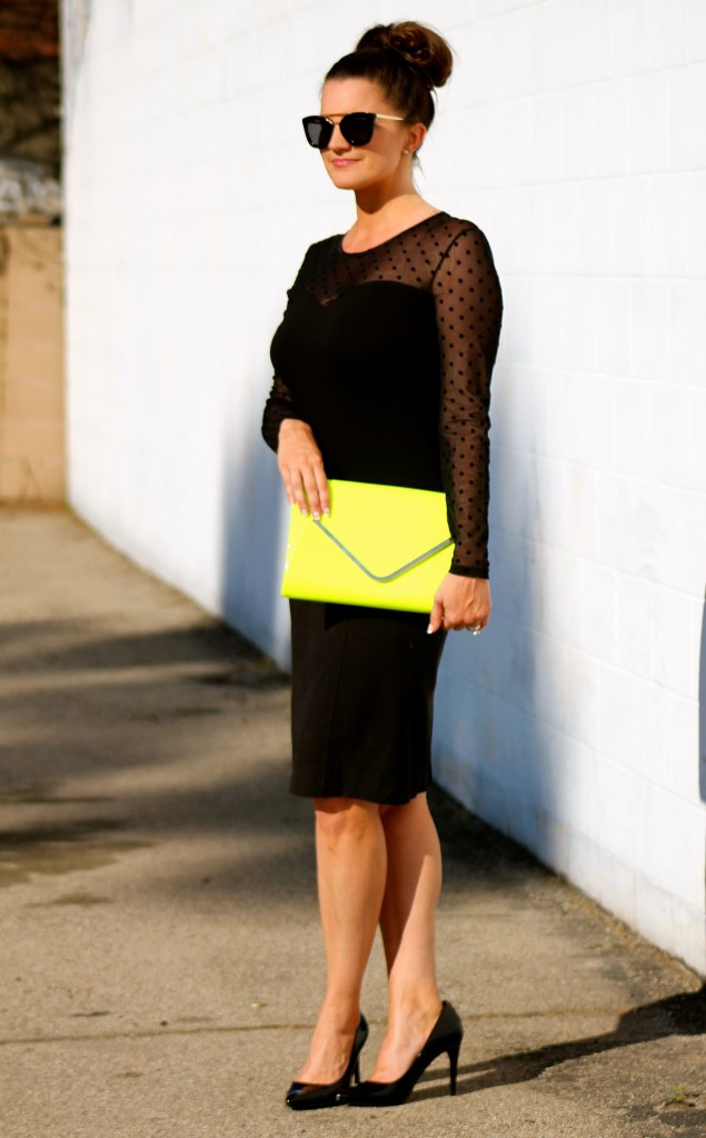 neon clutch, 4, lipgloss and lace, fashion blogger