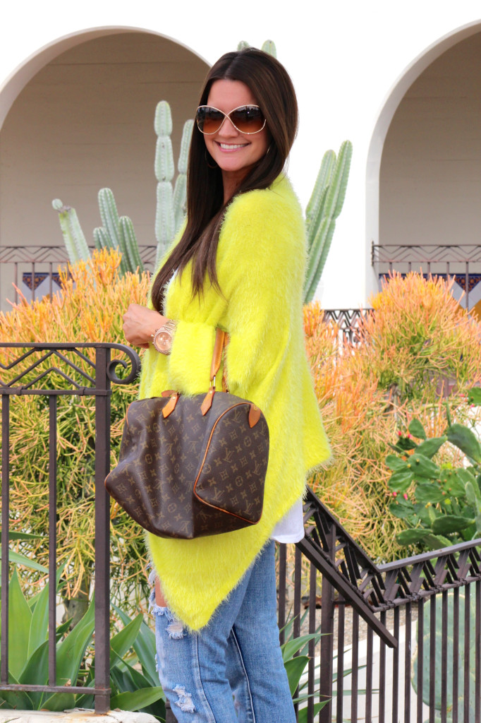 yellow sweater, free people jeans 4